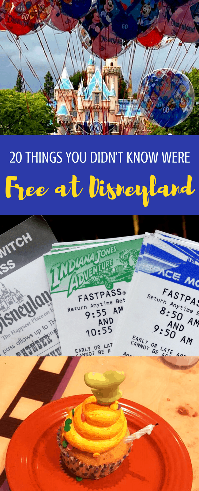 20 things that are free at Disneyland: you don't want to miss these tips before your next Disney vacation! Freebies at Disneyland: stuff in the parks, resorts, and Downtown Disney. #Disneyland #DisneyTips #FreeDisney #Free #TravelTips