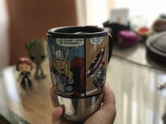 National Coffee Day - coffee in a superhero cup
