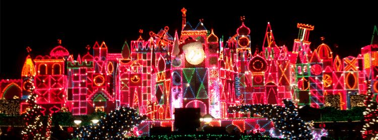 its a small world holiday christmas at disneyland
