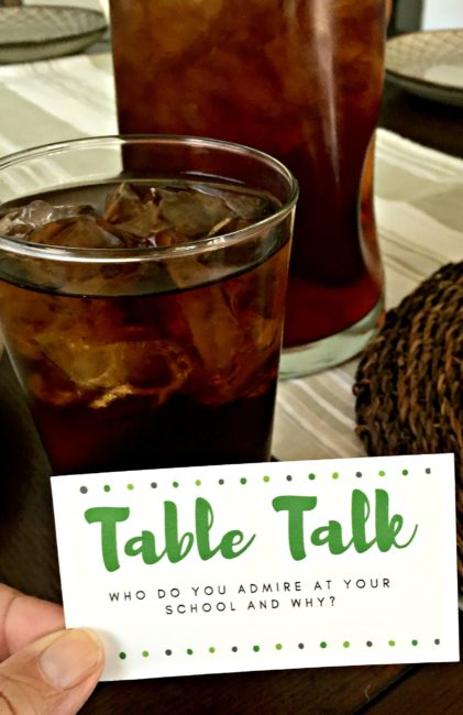 Family Dinner Conversation Starters- take back meal time. 15 questions to ask your family at meal time. Parenting for the win! Motherhood | Mom | Dad | Fatherhood