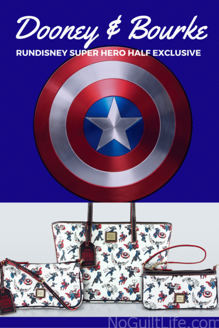 Super Hero Half marathon exclusive Dooney and Bourke purses by Disney. Marvel | Captain America | Avengers | Doctor Strange | The Hulk |