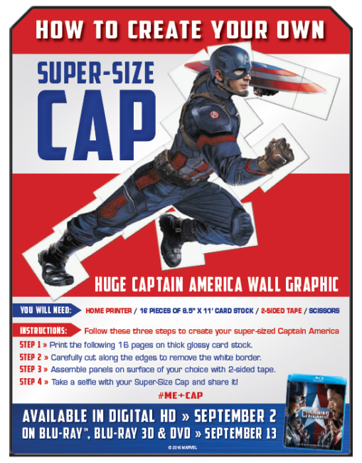 Click here for instructions for you own Super-Size Captain America.