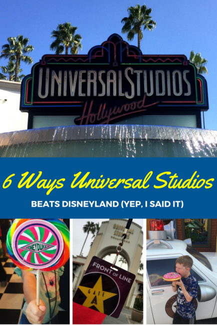 Universal Studios is better than Disneyland