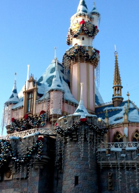 disneyland christmas sleeping beauty castle