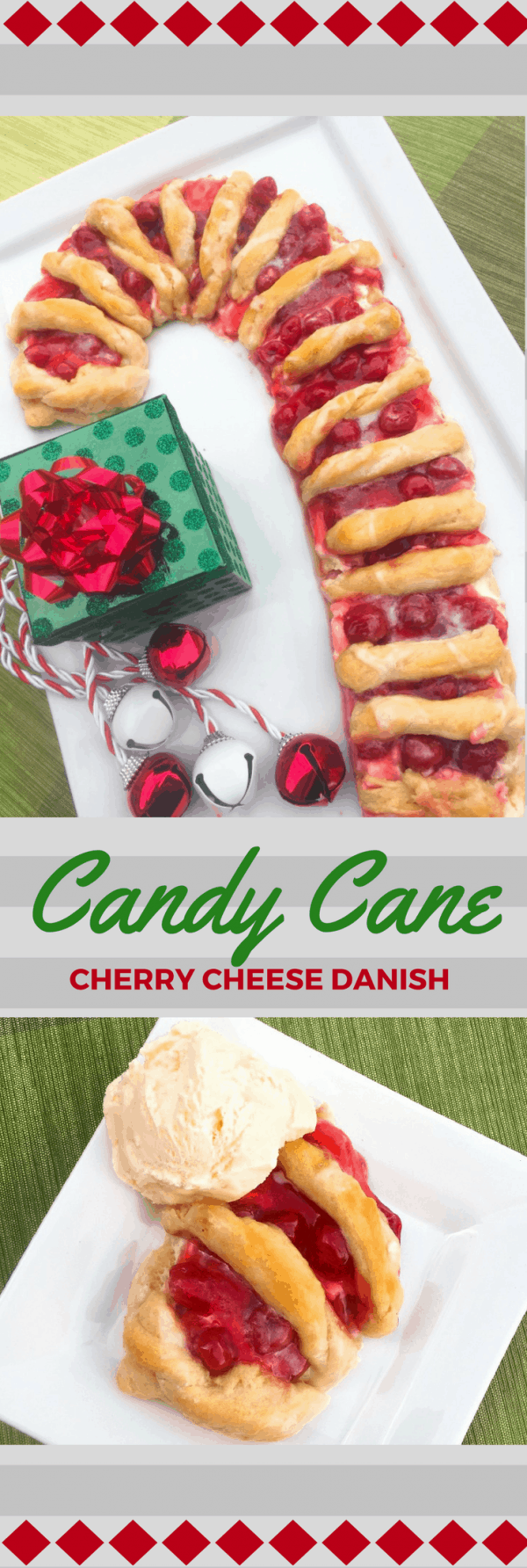 CAndy cane cherry cheese danish