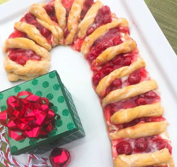 Easy Candy Cane Cherry Cheese Danish Recipe