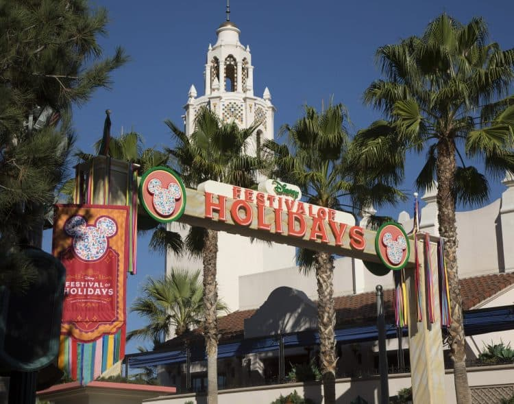 festival of the holidays at Disneyland Resort