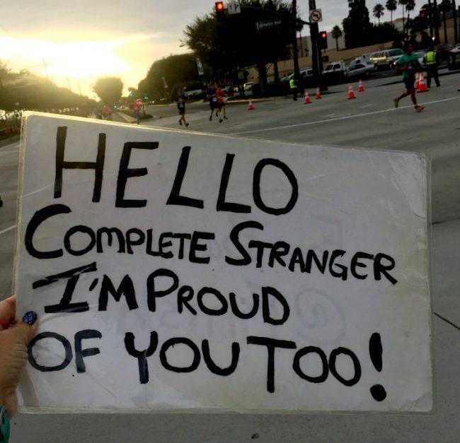 Hello complete stranger, I'm proud of you too! Peggy Sue runDisney cheerleader
