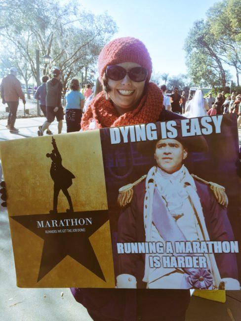 Hamilton inspired running race sign Marathon race sign