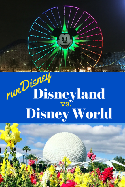 runDisney at Disneyland vs Walt Disney World: the differences in racing on each coast.