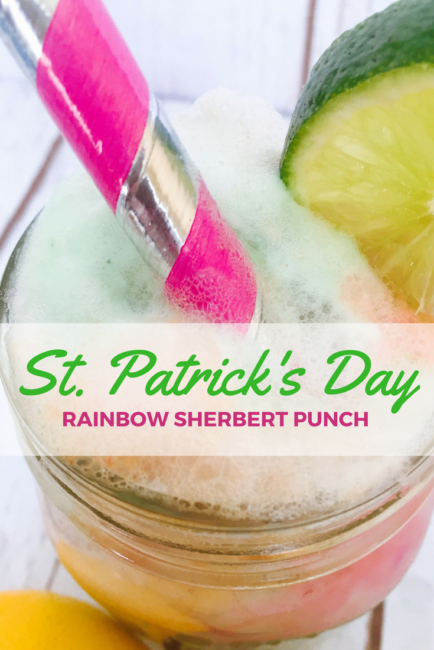 Easy Sherbert Punch recipe. Pot at the end of the rainbow in honor of St. Patrick's Day but great for any celebration. Non Alcoholic