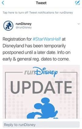 runDisney Star Wars Light Side Registration Rumors