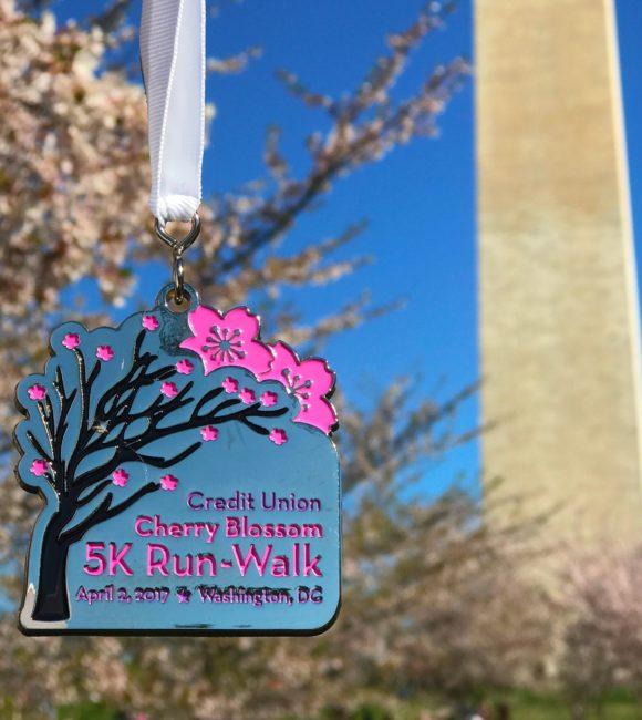 Cherry Blossom 5K medal 2017