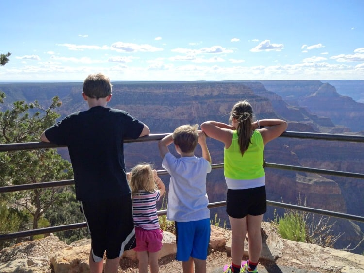 road trip to the grand canyon in Arizona with the kids