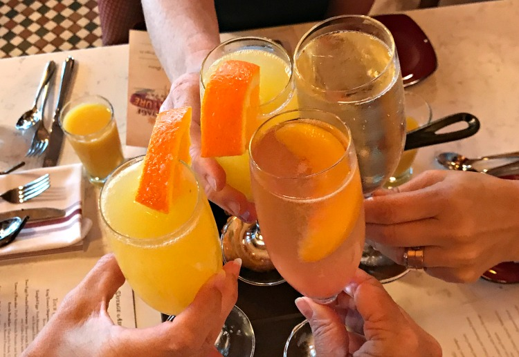 Bellinis at Disney Boardwalk resturaunt Bon Voyage Breakfast
