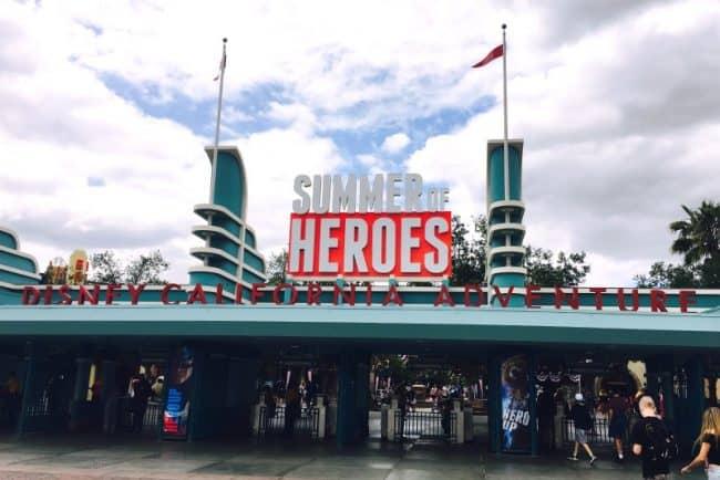 Disneyland-Summer-of-Heroes-California-Adventure-Entrance