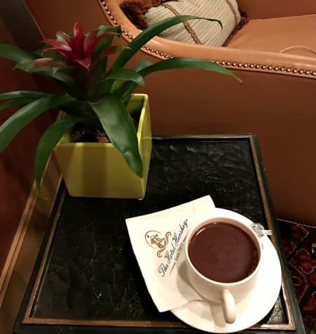 chocolate spa hot chocolate at the Hotel Hershey hotels near hersheypark
