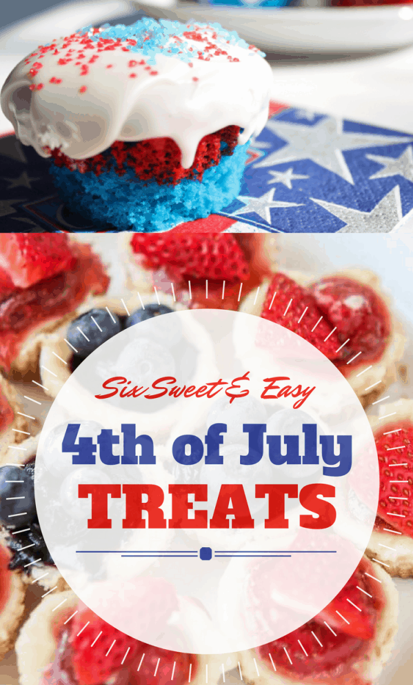 10 easy Fourth of July Recipes for a sweet 4th of July celebration! #4thofjuly #fourthofjuly #recipes #easyrecipes #cake #cookies #donuts #cheesecakes