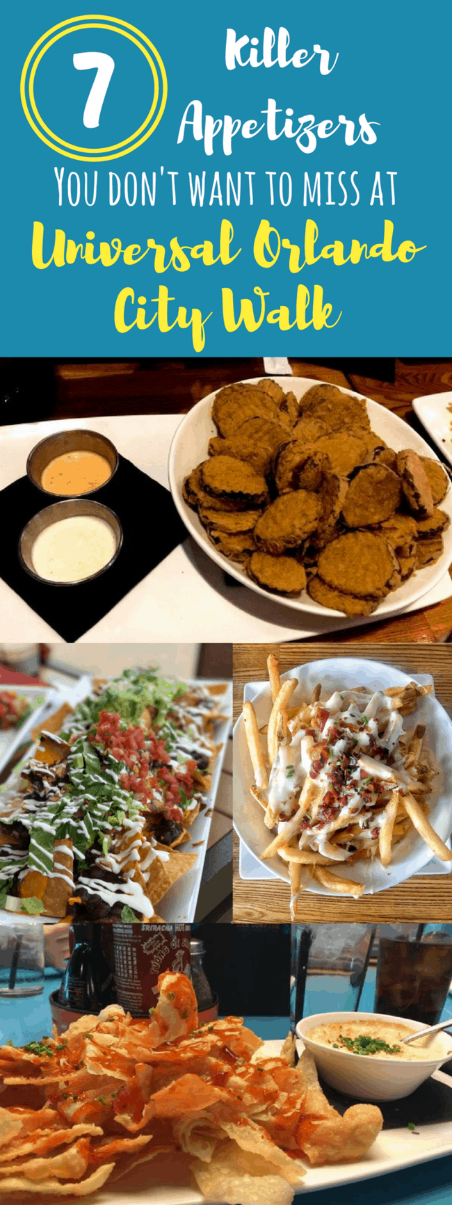 What should you eat at Universal Orlando CityWalk? glad you asked about dining options! Killer appetizers you don't want to miss at City Walk and Universal Orlando in Florida. All the tips you need to start your dining at the parks!