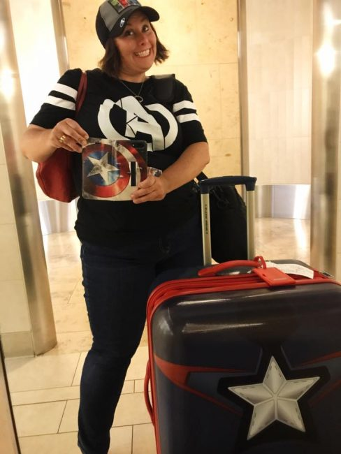 D23 Expo airport Marvel fangirl