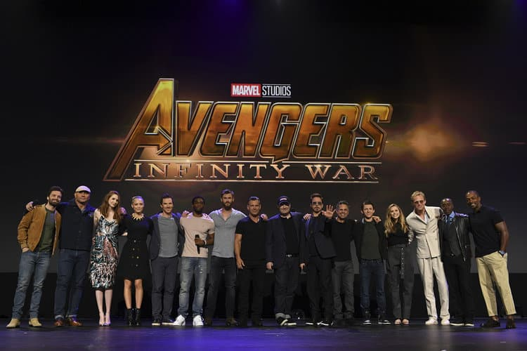 Marvel Avengers: Infinity War cast on stage at D23 Expo 2017