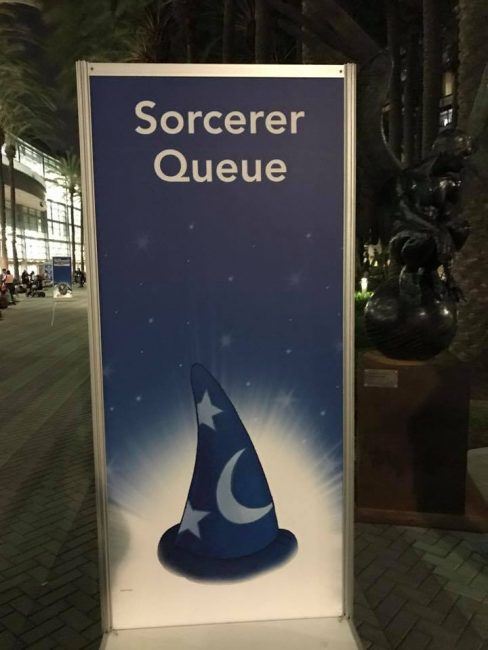 D23 Expo Sorcerer package information and sign