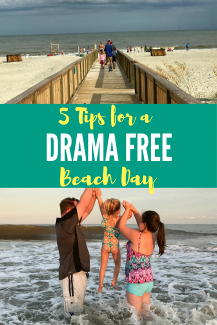 5 tips to a drama free beach day for parents: don't forget the sunscreen & snacks!