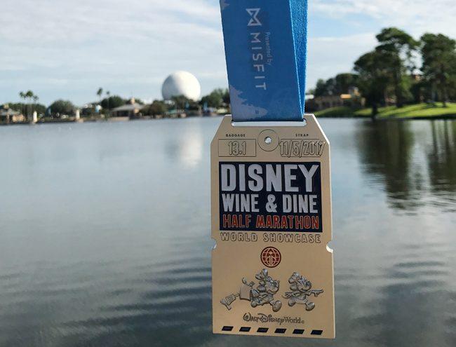 runDisney Wine and Dine half medal 2017