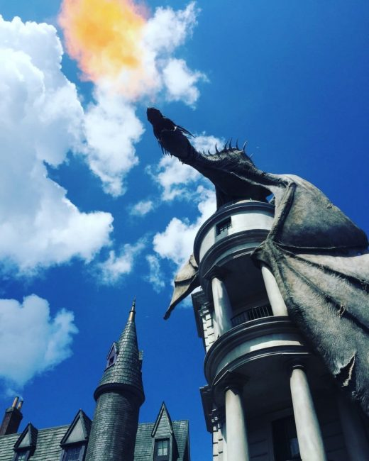 diagon alley fire breathing dragon