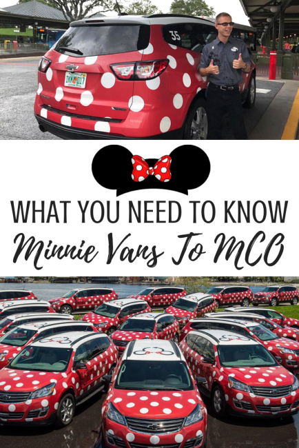 Minnie Vans from Lyft Orlando can be taken to and from the MCO airport
