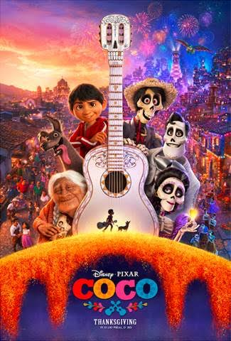 Disney Pixar COCO poster coming to theaters November 2017!