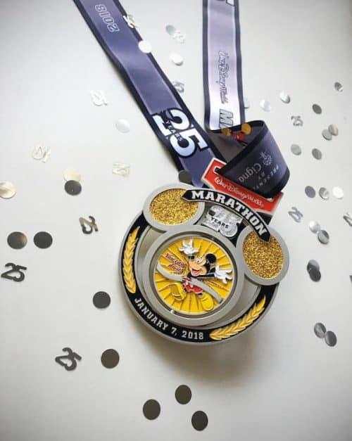 runDisney marathon 2018 25th anniversary medal