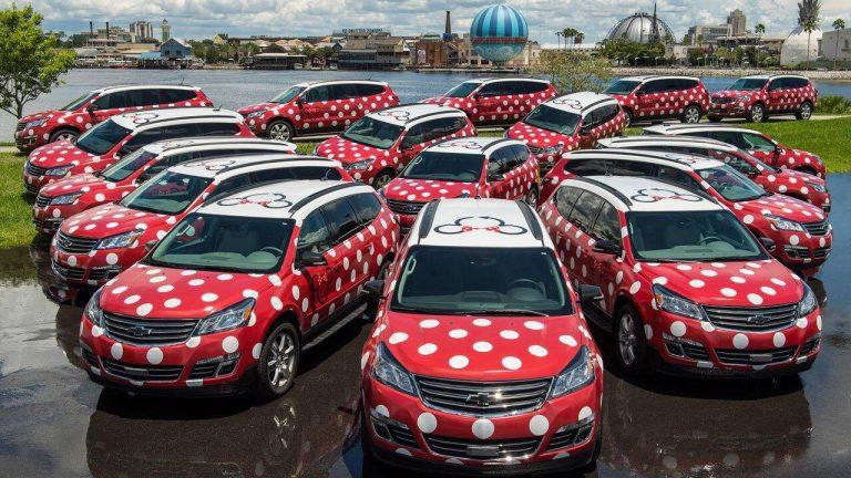 The Minnie Van fleet are ready to take you to MCO via Lyft Orlando