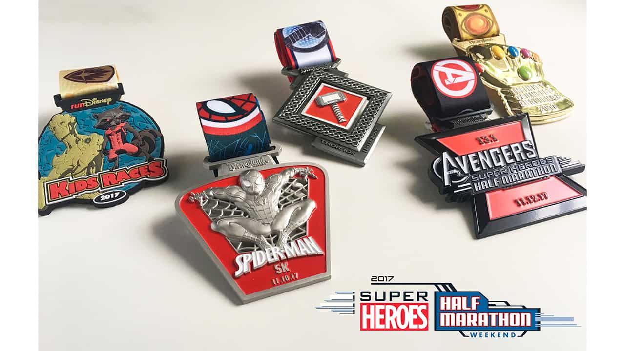 Super Heroes Half Marathon Medals 2017