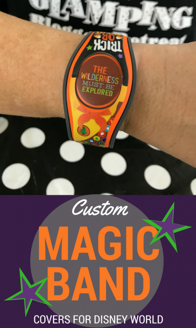 Find the perfect custom magic band cover from My Fantasy Bands. Easy to use, cute as all get out, and perfect for your next Walt Disney World vacation! Magic Band Decals FTW. #disneyworld #disney #magicbands #disneytips #travel #familytravel