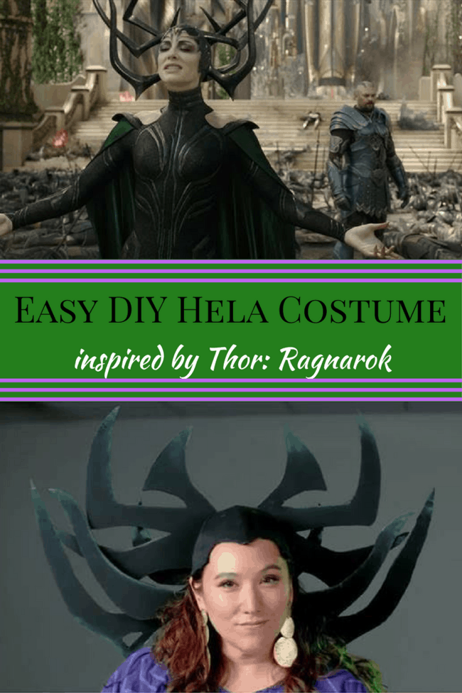 Easy Hela costume for Hela-ween. Thor: Ragnarok in theaters Nov 3! DIY Halloween Costume for wome and girls.