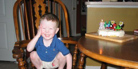 Jacob birthday Thomas cake