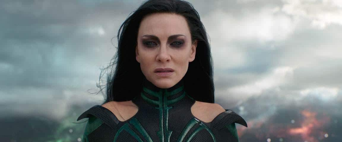 Hela, Goddess of Death, in Thor: Ragnarok and Marvel's first female villain