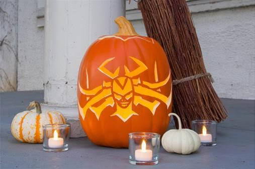 Hela pumpkin template for Hela-ween. Thor: Ragnarok in theaters Nov 3!