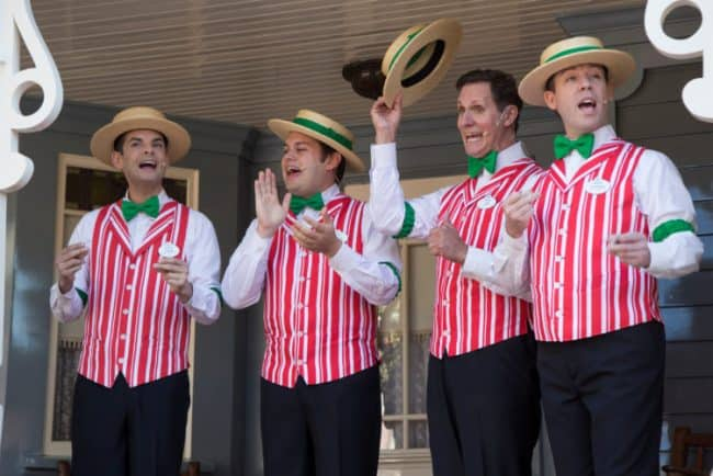 DApper DAns Singing during Holidays at the Disneyland Resort