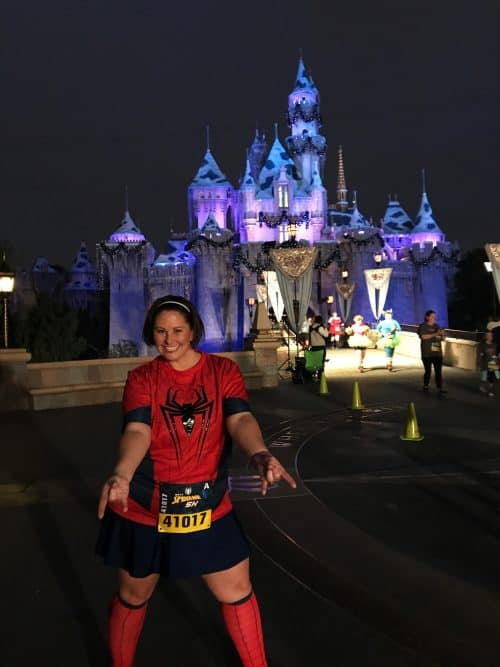 Spider Man 5K Disneyland castle