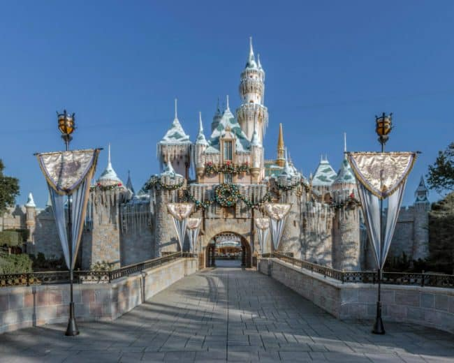 Sleeping Beauty's Winter Castle During the Holidays