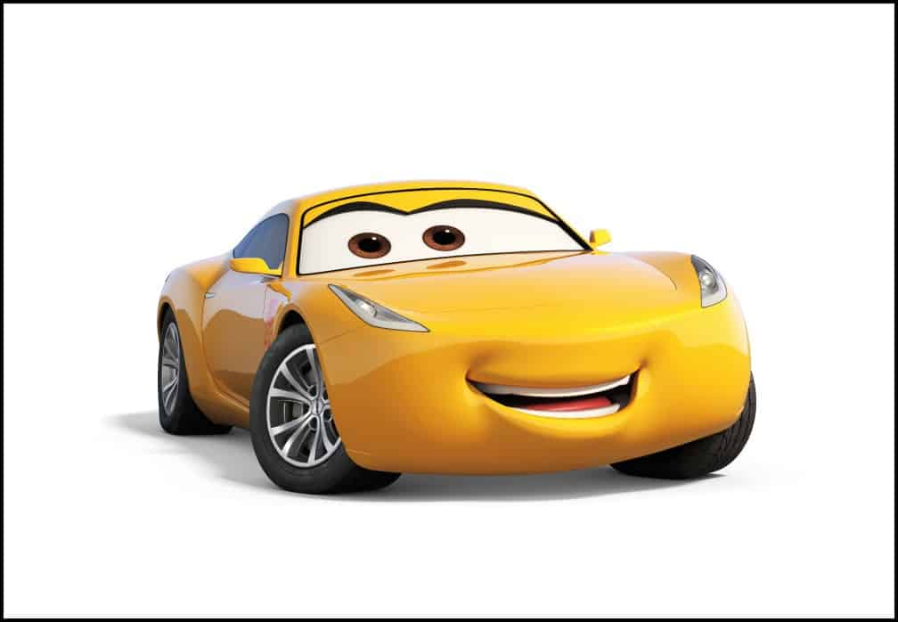 CARS 3 bonus features on bluray Miss Fritters Racing School