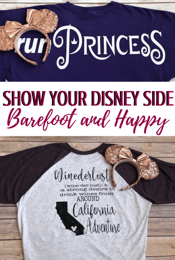 Custom Disney Shirts for the family! Barefoot and Happy makes quality ways to show your Disney Side! #disneyside #customdisney #disneyshirts #disneyworld #disneyland
