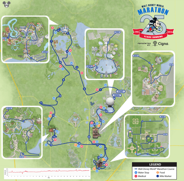 Disney Marathon Course Map 2018 Disney World Marathon Corrals, Waivers, Courses, & Event  Disney Marathon Course Map