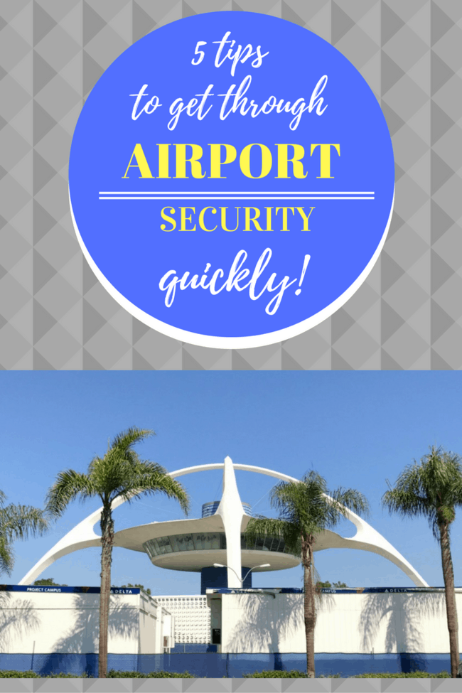 Here are my top five Tips To Get Through Airport Security quickly with your sanity in check! It seems like every time I turn around there's a new rule about what can and cannot be brought through security. No matter how well I prepare, I always forget something. Here's to changing that. #traveltips #airports #travel