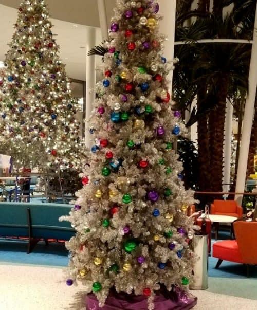 Universal studios christmas tree in Cabana Bay Hotel Lobby