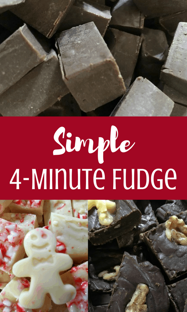 Simple four minute fudge recipe: you'll thank me for this holiday favorite! Easy recipe for homemade gifts & treats.