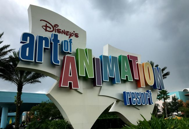 parking at disney world resorts starts march 21. Art of Animation resort is included.