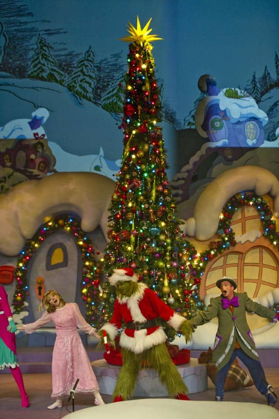 Universal studios christmas includes Grinchmas